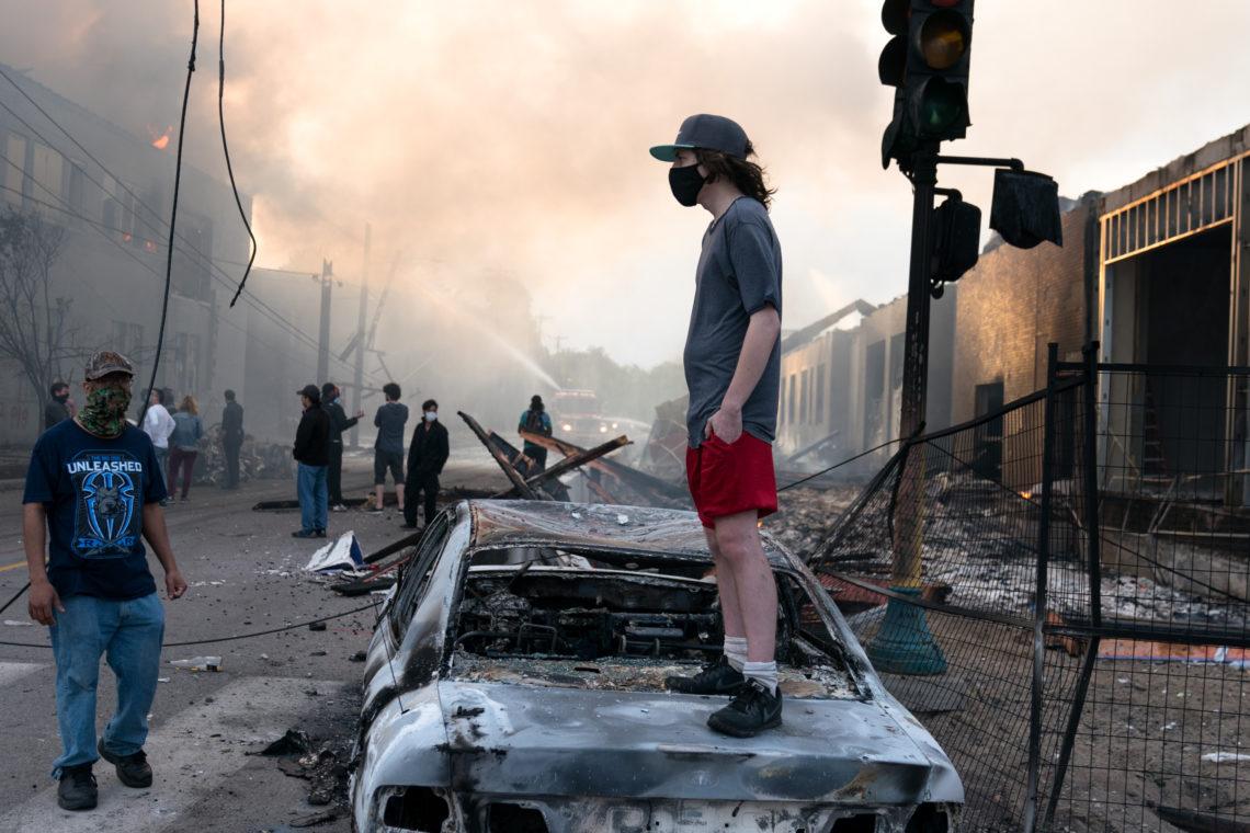 george floyd tüntetések amerika tüntető