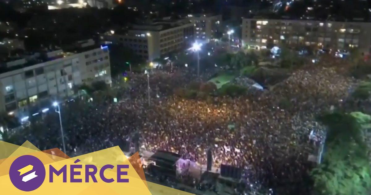 Ötven embert tartóztattak le egy Netanjahu-ellenes tüntetésen Jeruzsálemben