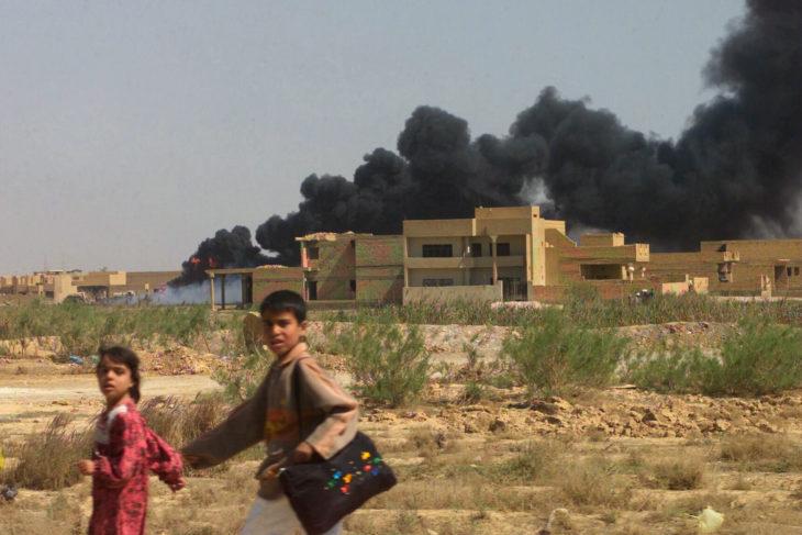 irak gyerekek amerikai invázió