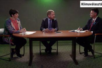 Márki-Zay és Dobrev vitája a Greenpeace és HVG által szervezett eseményen. A téma a jelöltek zöldpolitikai program volt.