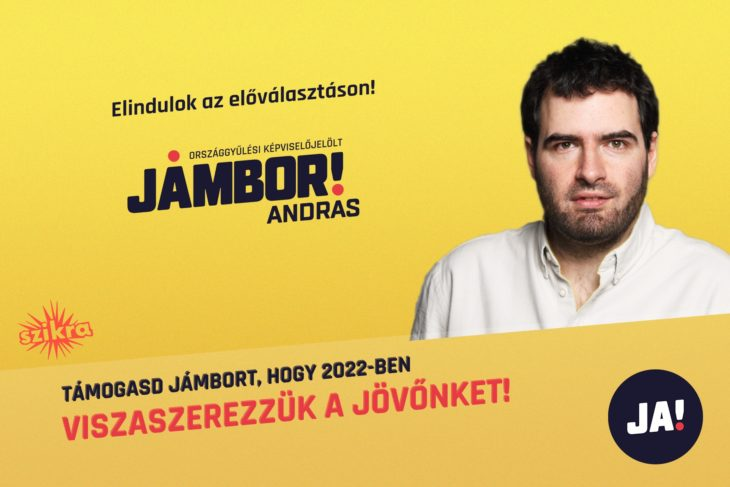 Jámbor András kampányposztere